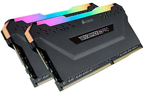Black – Corsair Vengeance RGB Pro 16GB 2x8GB DDR4 3600 PC4-28800 C18 Desktop Memory
