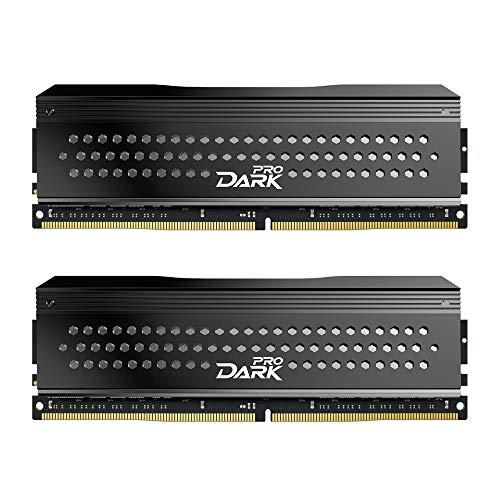 Gray – TDPGD416G3200HC14ADC01 – TEAMGROUP T-Force Dark Pro DDR4 16GB KIT 2 x 8GB 3200MHz PC4 25600 CL 14 288-Pin SDRAM Desktop Gaming Memory Module Ram