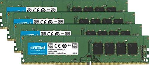 CT4K16G4DFD8266 – Crucial 64GB Kit 16GBx4 DDR4 2666 MT/s PC4-21300 DR x8 DIMM 288-Pin Memory