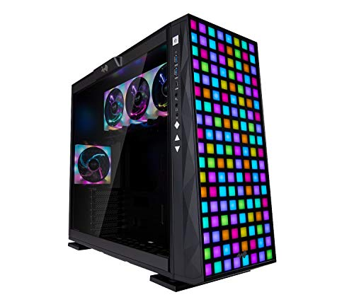 ATX Mid Tower Gaming Computer Chassis Case – InWin 309 Addressable RGB Front Panel with 4 ARGB Fans – Tempered Glass Side Panel