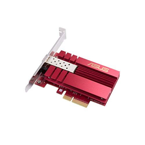 Asus 10Gbps Gigabit Ethernet PCI Express, Network Adapter PCIe 2.0/3.0 X4 SFP+ Network Card/Ethernet Card Support Fiber Optic XG-C100F