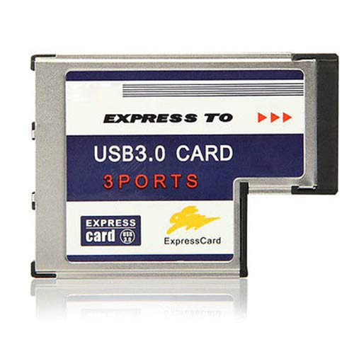Mustpoint Laptop 54mm Express Card ExpressCard to 3 Port USB 3.0 Adapter Superspeed 5Gbps