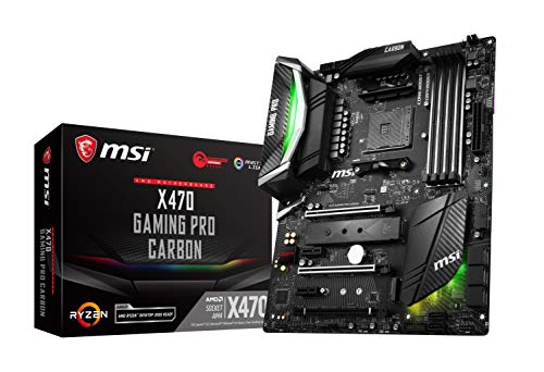 MSI Performance Gaming AMD X470 Ryzen 2 AM4 DDR4 Onboard Graphics SLI ATX Motherboard X470 Gaming PRO Carbon