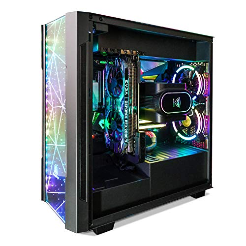 Segotep Phoenix ATX Black Mid Tower PC Gaming Computer Case USB 3.0 Ports/Graphics Card Vertical Mounting with Tempered Glass & RGB Front Panel PC Case ONLY
