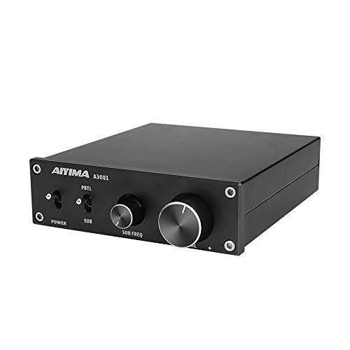 AIYIMA 300W Subwoofer Amplifier TPA3255 HiFi Mono Audio Power Amplifier Class D Amp NE5532 Sub Plate Amplifier with Bass Treble Adjust DC 24V-35V TPA3255Black-300W