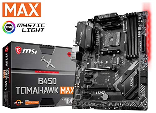 MSI Arsenal Gaming AMD Ryzen 2ND and 3rd Gen AM4 M.2 USB 3 DDR4 DVI HDMI Crossfire ATX Motherboard B450 Tomahawk Max