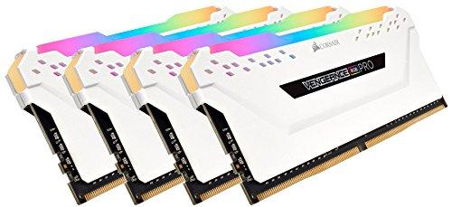 Corsair CMW64GX4M4C3200C16W Vengeance RGB PRO 64GB 4x16GB DDR4 3200 PC4-25600 C16 Desktop Memory White