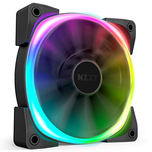 Winglet Tips – Single HUE2 Lighting Controller Not Included – NZXT AER RGB 2 – Fluid Dynamic Bearing – 140mm – LED RGB PWM Fan for Hue 2 – HF-28140-B1 – Advanced Lighting Customizations