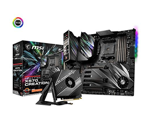 MSI Prestige X570 Creation Motherboard AMD AM4, DDR4, PCIe 4.0, SATA 6Gb/s, M.2, USB 3.2, AX Wi-Fi 6, 10G Super LAN, Extended-ATX