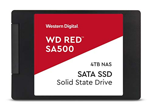 WDS400T1R0A – WD Red SA500 NAS 4TB 3D NAND Internal SSD – SATA III 6 GB/S, 2.5″/7mm, Up to 560 MB/S