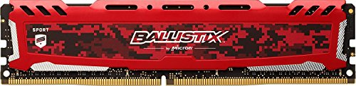 Crucial Ballistix Sport LT 2400 MHz DDR4 DRAM Desktop Gaming Memory Single 8GB CL16 BLS8G4D240FSEK Red
