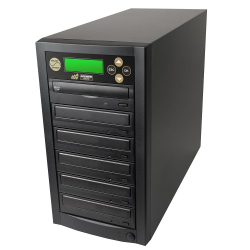 Acumen Disc 1 to 5 Target Discs DVD CD Duplicator Machine with Multiple 24x Writers Burners Drives Standalone Audio Video Copy Duplication Device Unit