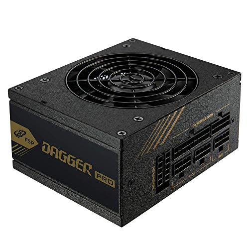 FSP Dagger Pro 650W Mini ITX Solution/SFX 12V / Micro ATX 80 Plus Gold Certified Full Modular VR / 4K Ready Gaming Power Supply SDA2-650
