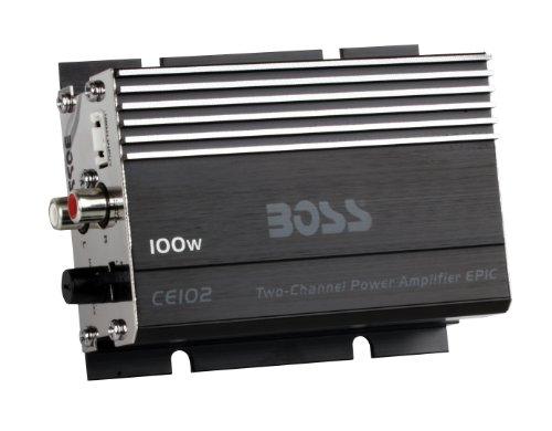 BOSS Audio CE102 Watt, Chaos Epic, 2 Channel, 4 Ohm Stable Class A/B, Full Range, MOSFET Car Amplifier