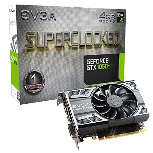 EVGA GeForce GTX 1050 Ti SC GAMING, 4GB GDDR5, DX12 OSD Support PXOC Graphics Card 04G-P4-6253-KR