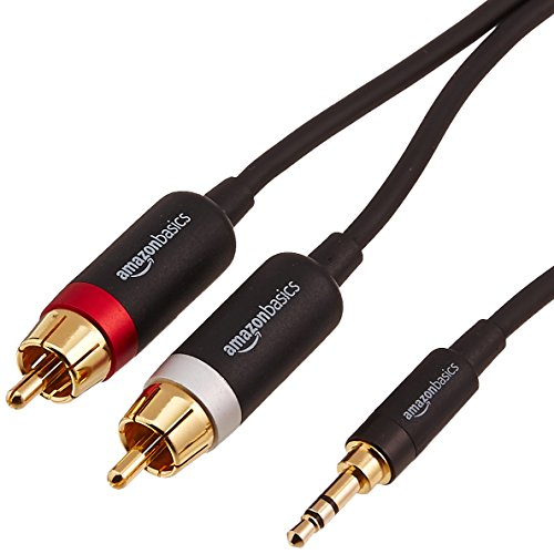 Amazonbasics 3 5mm Male To Male Stereo Audio Cable  U2013 8