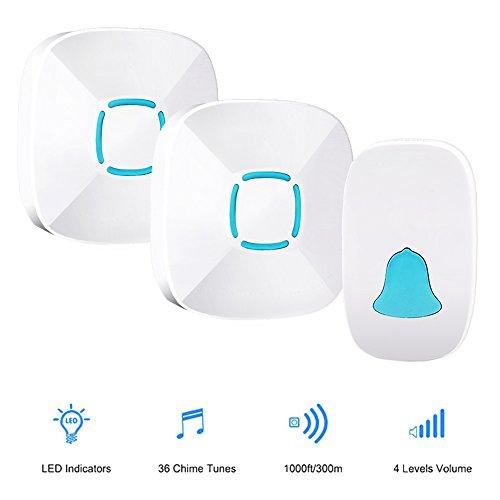 Boomile Wireless Doorbell Waterproof Door Bell Kit, 1000