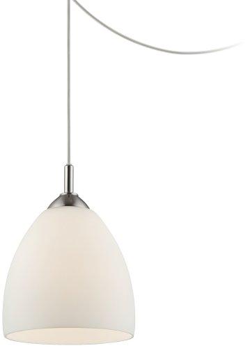 Opal Glass Plug-In Swag Style 9″ Wide Mini Pendant