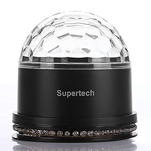 Sharper Image Sbt1001wh Bluetooth Tower Speaker With Lights Fm