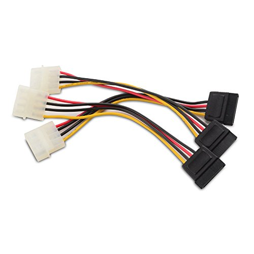 Cable Matters 3 Pack 4 Pin Molex To SATA Power Adapter