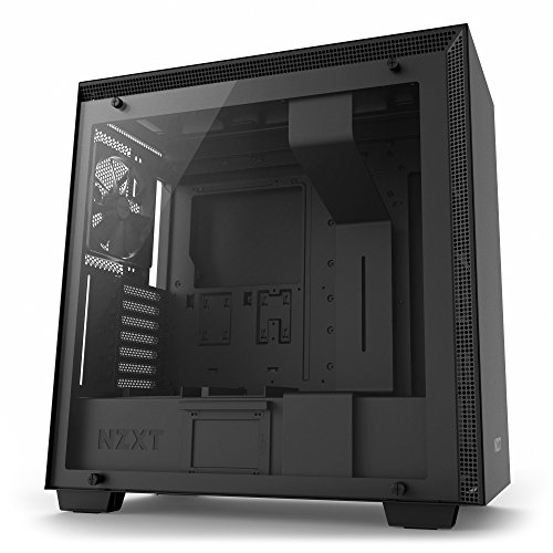 Black Tempered Glass Panel Atx Mid Tower Pc Gaming