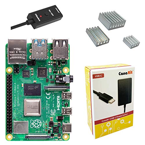 CanaKit Raspberry Pi 4 Power Supply with PiSwitch USB-C