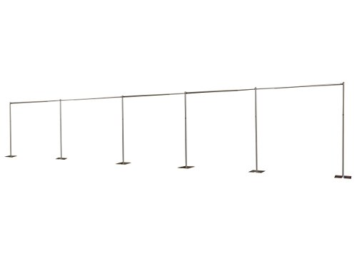 OnlineEEI Pipe and Drape Backdrop Kit 8ft X 50ft, No Drapes Included
