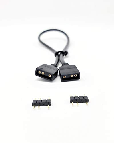 MICRO CONNECTORS, Inc. Addressable RGB Extension Cable – 50cm