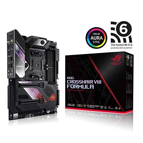 Asus ROG X570 Crosshair VIII Formula ATX Motherboard with PCIe 4.0, on-Board WiFi 6 802.11Ax, 5 Gbps LAN, USB 3.2, SATA, M.2, Node and Aura Sync RGB Lighting