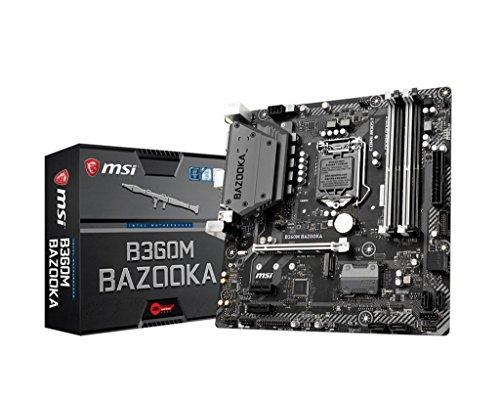 MSI Arsenal Gaming Intel Coffee Lake B360 LGA 1151 DDR4 Onboard Graphics Micro ATX Motherboard B360M Bazooka