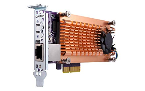 QNAP QM2-2S-220A Dual M.2 22110/2280 SATA SSD Expansion Card PCIe Gen2 X2, Low-Profile Bracket Pre-Loaded, Low-Profile Flat and Full-Height are Bundled