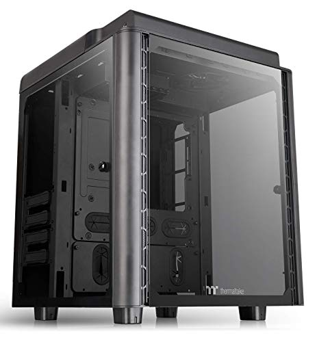 Thermaltake Level 20 HT Black Edition 4 Tempered Glass Type-C Fully Modular E-ATX Full Tower Computer Chassis with 2 140mm Top Fan Pre-Installed CA-1P6-00F1WN-00