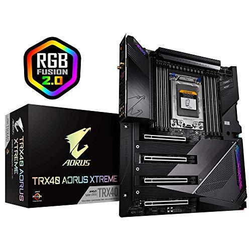 GIGABYTE TRX40 AORUS Xtreme sTRX AMD TRX40/Fins-Array Heatsink/16+3 Phases Infineon Digital VRM/Gen 4 AIC with 4 X M.2 NVMe/Intel WiFi 6/Intel Dual 10GbE LAN/XL-ATX/AMD Motherboard