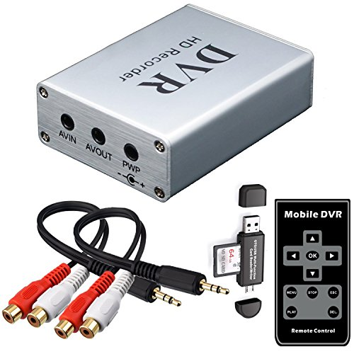 FPV Mini DVR with SD Card Reader, SD Card Real-time Digital Video Recorder for FPV Camera Hi8 Camcorder DVD TV Box MPEG-4 CH1