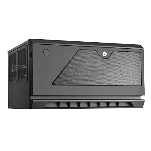 SilverStone Technology CS381B Micro-ATX/Mini-DTX/Mini-Itx 8 Bay Hot Swap 2.5″/3.5″ SAS-12G/SAS-6G NAS Storage Case with 2X 120mm Dual Ball Bearing Fan