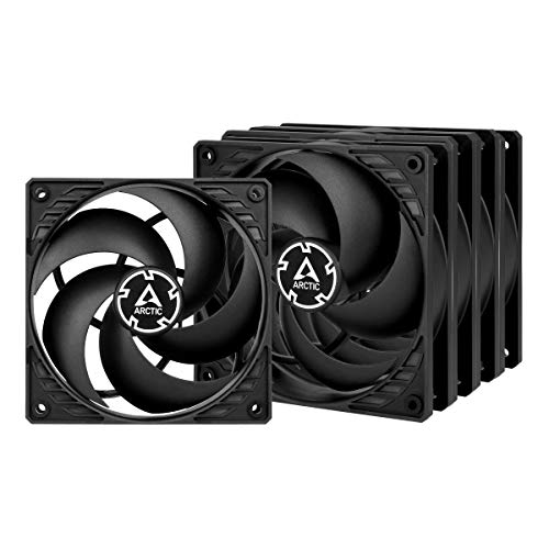 Pressure-optimised 120 mm Fan with PWM and PST PWM Sharing Technology – ARCTIC P12 PWM PST Black/Black Value Pack