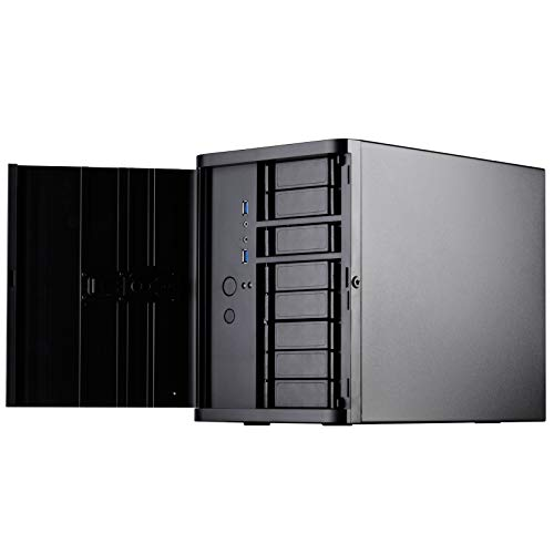 SilverStone Technology Premium Mini-Itx/DTX Small Form Factor NAS Computer Case, Black DS380B-USA Newest Version