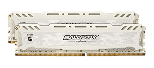 Crucial Ballistix Sport LT 3200 MHz DDR4 DRAM Desktop Gaming Memory Kit 32GB 16GBx2 CL16 BLS2K16G4D32AESC White