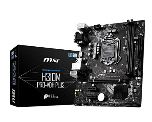 MSI ProSeries Intel Coffee Lake H310 LGA 1151 DDR4 D-Sub DVI HDMI Onboard Graphics Micro ATX Motherboard H310M PRO-VDH Plus