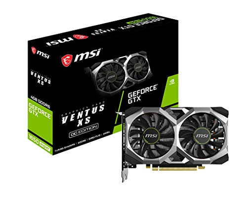 MSI GeForce GTX 1650 Super Ventus XS OC  Gaming GeForce GTX 1650 Super 128-Bit HDMI/DP/DVI 4GB GDRR6 HDCP Support DirectX 12 Dual Fan VR Ready OC Graphics Card GTX 1650 Super Ventus XS OC