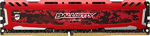 Crucial Ballistix Sport LT 2400 MHz DDR4 DRAM Desktop Gaming Memory Single 8GB CL16 BLS8G4D240FSEK Red