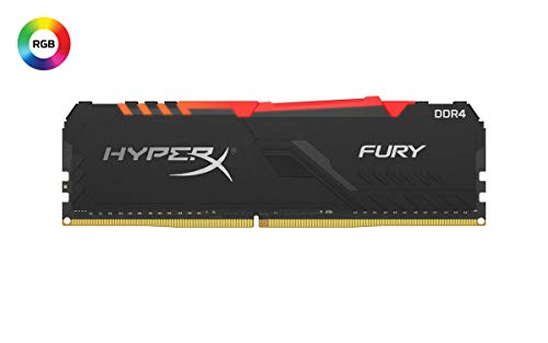 HyperX Fury 8GB 2666MHz DDR4 CL16 DIMM 1Rx8 RGB XMP Desktop Memory Single Stick HX426C16FB3A/8