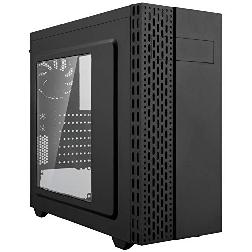 Rosewill Zircon T ATX Mid Tower Gaming PC Computer Case with 2 Pre-Installed 120mm Fans and Side Panel Window, 240mm AIO and 400mm Graphics Card Support, Black Steel